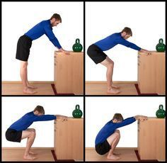 The supported squat is one of the best knee strengthening exercises