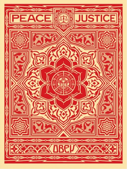 Obey – Peace and Justice Red