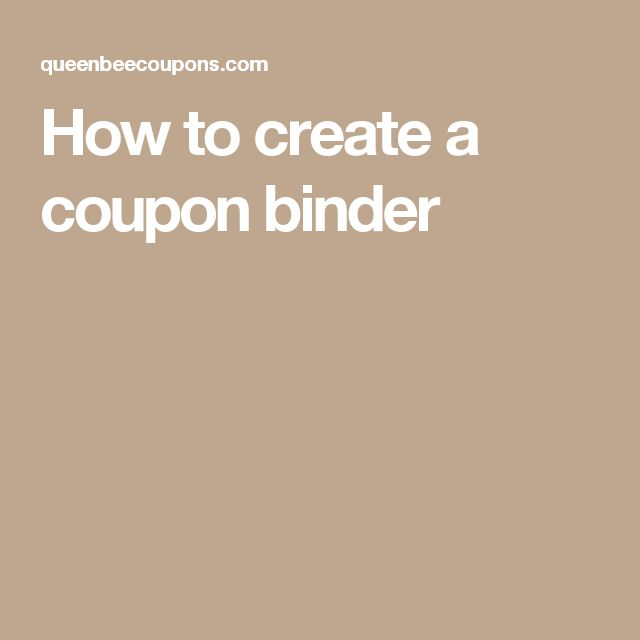 The 25+ best Coupon binder ideas on Pinterest Coupon, Extreme - create your own voucher