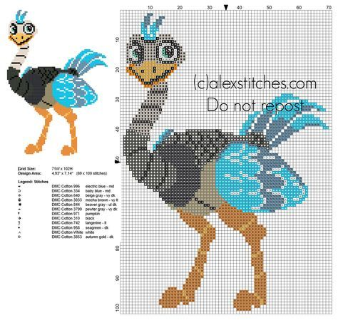 Merc from Disney Miles from Tomorrowland cross stitch pattern