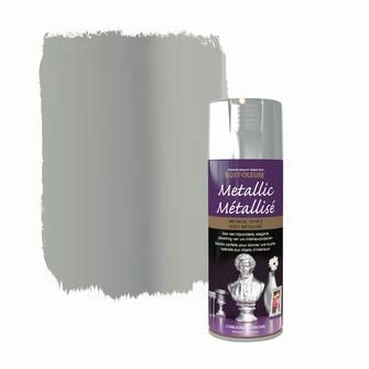 Rust-oleum metallic spuitlak glans chroom 400 ml | Spuitbussen | Lakken | Verf | KARWEI