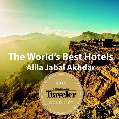 The world's best hotels - Alila Jabal Akhdar  http://www.cntraveler.com/galleries/2014-12-16/gold-list-2015-the-top-hotels-in-the-world/71