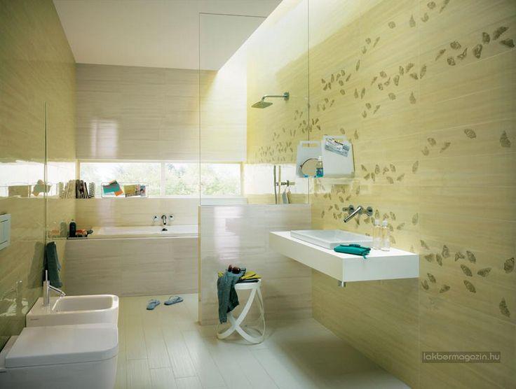 Látványos, színes csempék - szép, modern fürdőszobák - burkolat ötletek