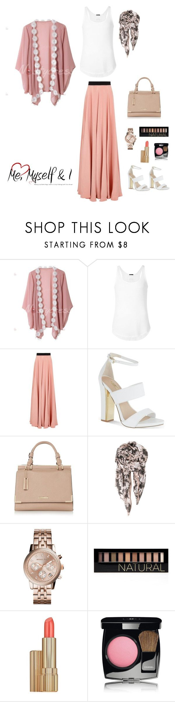 """""""simple look for eid"""" by ms-jaramaya ❤ liked on Polyvore featuring ATM by Anthony Thomas Melillo, Roksanda, Carvela, Handle, BeckSöndergaard, Michael Kors, Forever 21, Estée Lauder and Chanel"""
