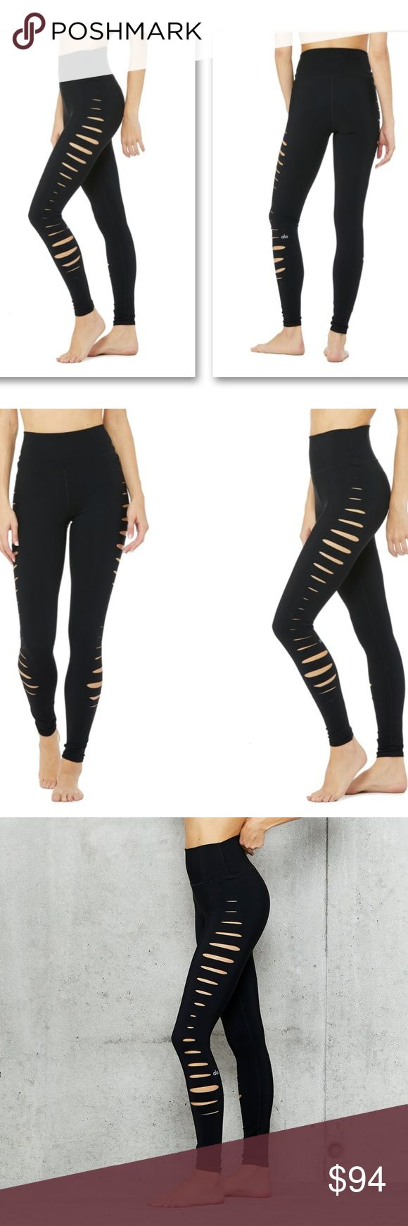 Slice Limited Edition High Waisted Leggings $139 Walk the line in the Slice Legging, cut from our sculpting performance fabric and designed with side slashes for added breathability. A high waist and 4-way stretch make for complete comfort, during and beyond your practice.  - Engineered to lift, sculpt, contour and smooth - Wear-tested by our in-house team for the perfect fit - 4-way-stretch fabric for a move-with-you feel - Moisture-wicking antimicrobial technology - Breathable laser cut…