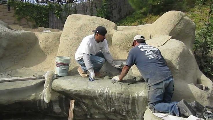 42 best images about working with concrete on pinterest for Concrete koi pond construction