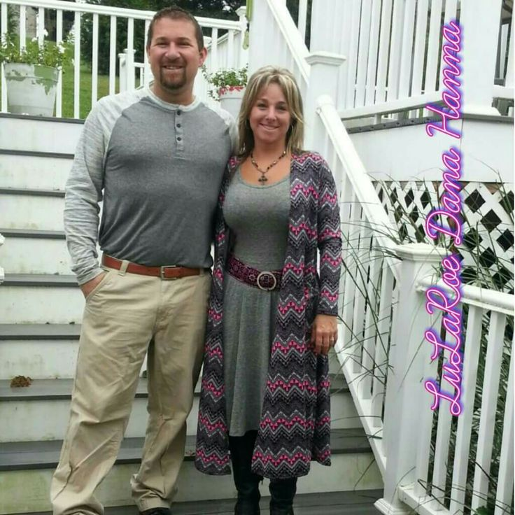 LuLaRoe Nicole and Sarah with my husband wearing the mark