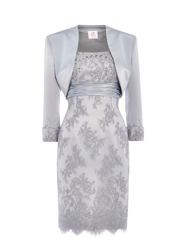 Elizabeth Platinum Mother Of The Bride Dress. Lace dress with ...