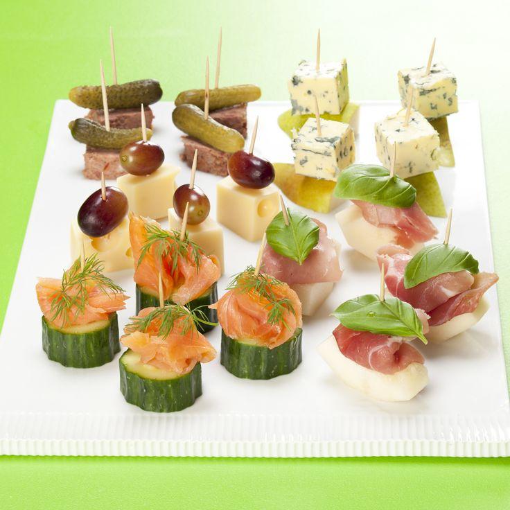 Pindemadder med laks, pate, skinke og ost | Appetizers | Pinterest