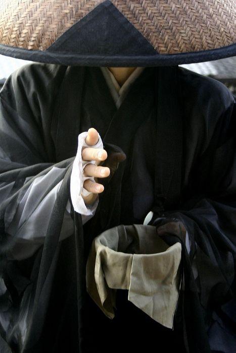 A Shuudoushi monk at the Kiyomizudera temple, Kyoto, Japan