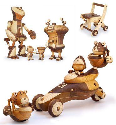 Com acabamento primorosos os brinquedos são feitos em madeira, com temática basicamente de ficção científica, robôs, veículos futuristas e outros. Take-G, bonequinhos confeccionados delicadamente à mão pelo artista japonêsTakeji Nakagawa. …