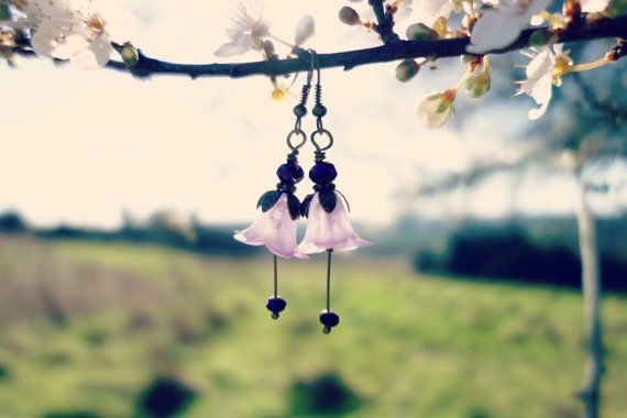 Fleurs sauvages boucles doreilles  Boucles par LilysWoodlandFlowers