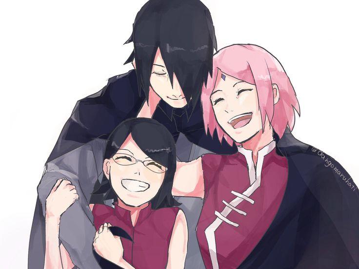 Uchiha sarada sasuke sakura | Uchiha family sasusa…