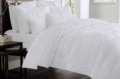 Nicole Miller Pintuck Duvet Comforter Quilt Cover 3pc Set