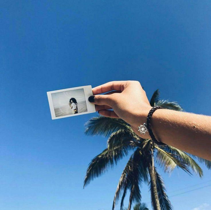 Polaroid• inspiração • foto na praia