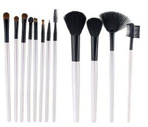 12-Piece Cosmetic Brush Set (White) by Shop4U. $22.00. Durable to use and easy to carry. Good effect on the makeup. Meets your various needs. 12 brushes in one set  . Color: White. Exquisite design . Professional cosmetic brush set. PPackage Details Weight: 175.48 g  Size: 23*10.5*2 cm