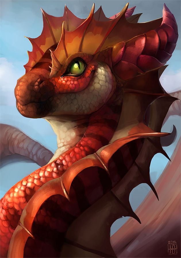 Red dragon - Khyaber by Raironu.deviantart.com on @DeviantArt
