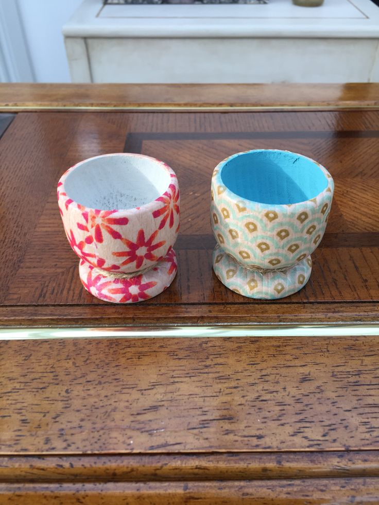 Egg Cups from Peppershells Vintage Etsy