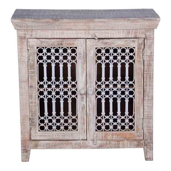 Maadze Solid Wood Cabinet with iron jali doors