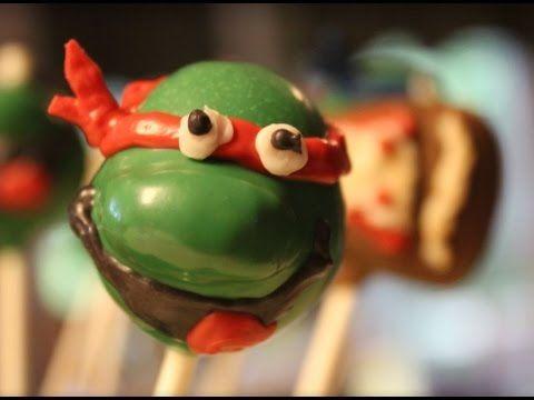 Teenage Mutant Ninja Turtle cake pops! The Praying Baker how to video.