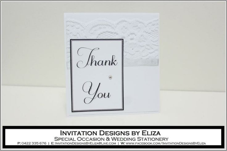 Thank You Card Designs  {Wedding} Silver, Black & White Theme www.facebook.com/InvitationDesignsByEliza