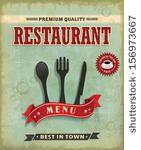 vintage food menu poster design | Shutterstock .eps vector #156973667