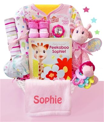 28 best girls baby gift baskets images on pinterest baby girl little safari girl baby gift basket negle Image collections