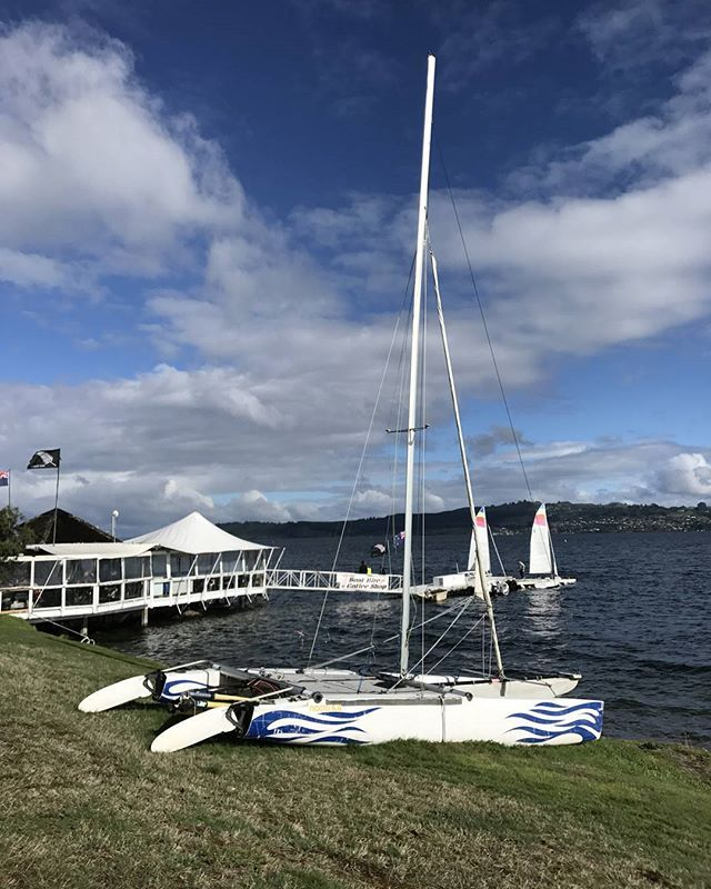 What a day to go sailing out on Lake Taupo! #laketaupo #northisland #newzealand