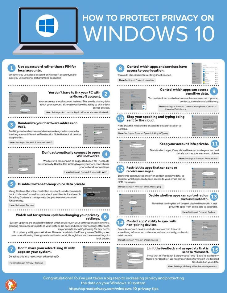 How To Protect Privacy on Windows 10 #Infographic #How To #Privacy