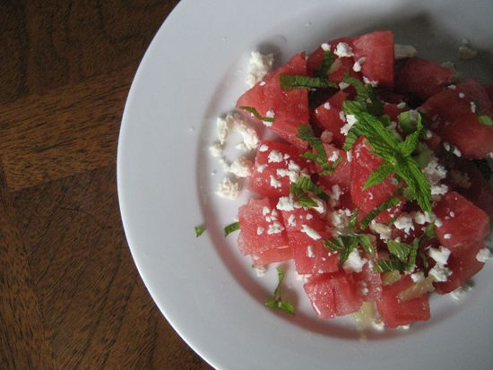 Watermelon Salad with Feta, Mint and Lime | Healthy & Lite Demo Dishes ...