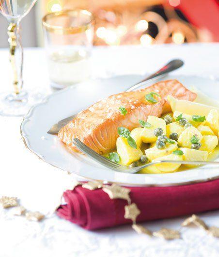 Losos na citrusech s voňavými bramborami recept - ApetitOnline.cz