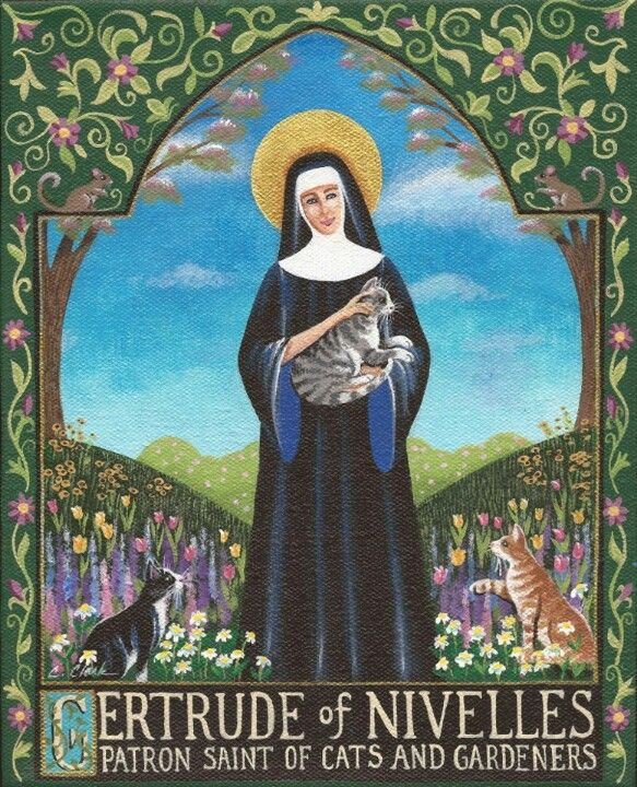 17 best images about patron saint of cats st gertrude of nivelle on pinterest cats mothers. Black Bedroom Furniture Sets. Home Design Ideas