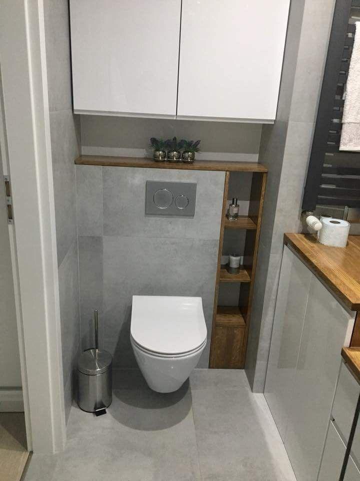 Niet Grijze Tegel En Lang Deurtje Voor Open Kast Bathroom Design Small Small Toilet Room Bathroom Interior Design