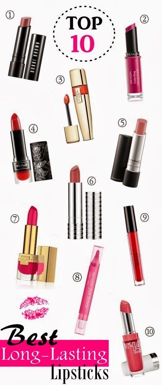 Top 10 Long-Lasting Lipsticks via Babblings of a Mommy