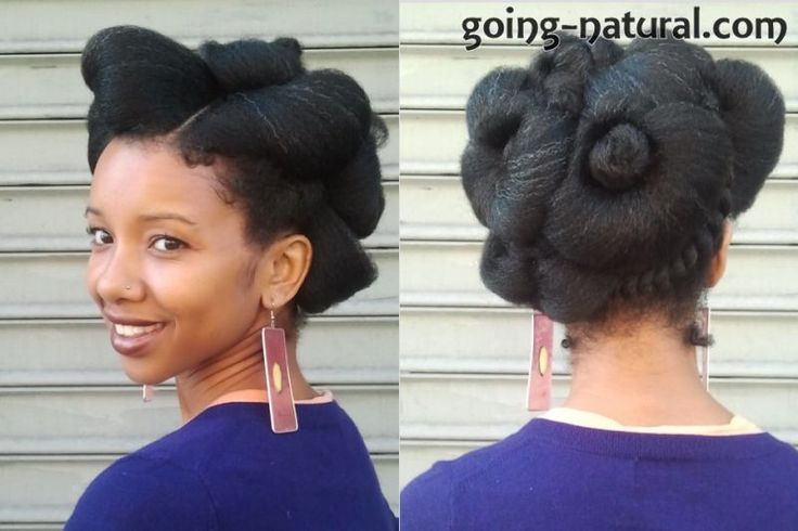 The Floral Gala Natural Hairstyle