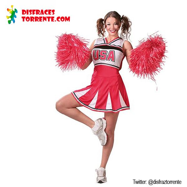 Disfraz de Animadora Cheerleader.  #disfraces #animadora
