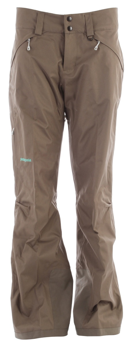 Patagonia Snowbelle Ski Pants Suede Brown - Women's