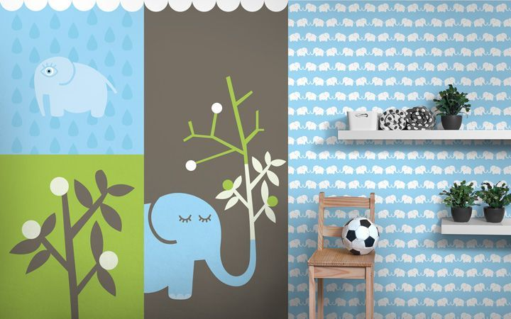 Fototapete und Tapete Elephants, for him - Designer Tapeten DecorPlay
