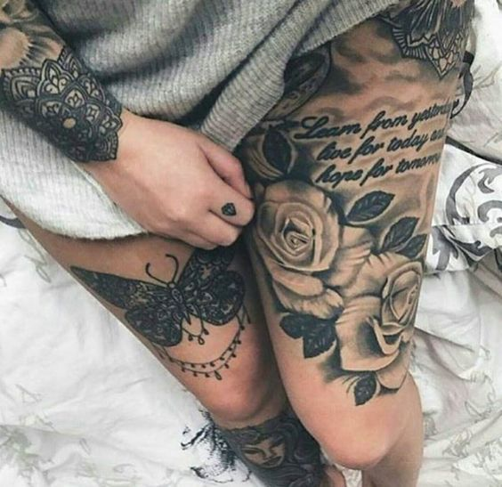 Beste Tattoo-Trends – Ultra-Sexy Oberschenkel-Tattoos für Frauen – Diy tattoo images