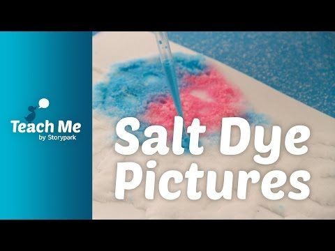 Teach Me: Salt Dye Pictures - YouTube
