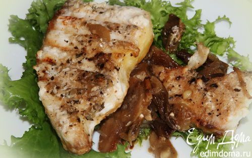 Филе белой рыбы с грибами | Кулинарные рецепты от «Едим дома!»