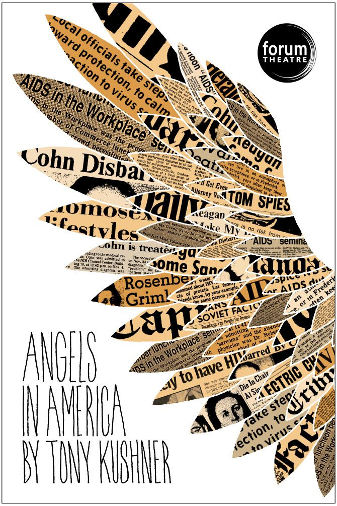 Forum Theatre by carolyn sewell: Poster Design, Carolyn Sewel, Collage Inspiration Typography, Graphics Art, Angel Wings, Forum Theatres, Poster Ideas, Theatres Poster, Newspaper Poster