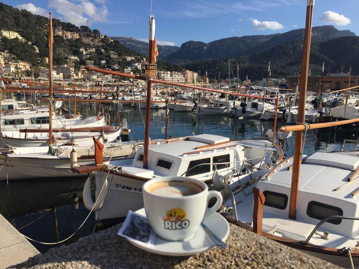 Coffee and Port de Soller