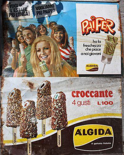 Vintage........ALGIDA Paiper!!!!  #TuscanyAgriturismoGiratola