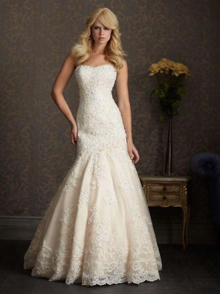 Romantic Lace Sweetheart Mermaid Wedding Dress