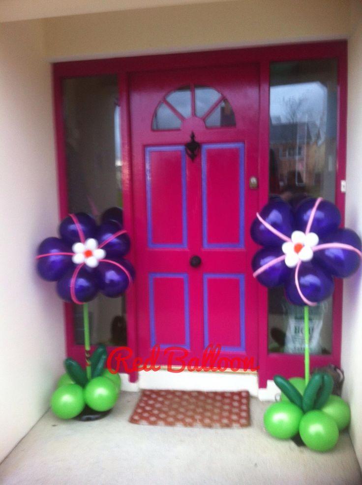 Balloon, flowers, flower, gift,