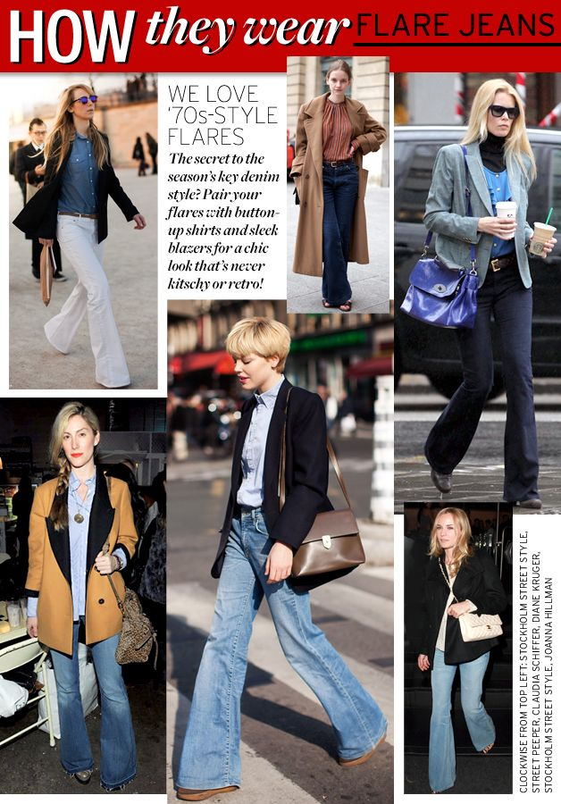 How They Wear: Flare Jeans - Celebrity Style and Fashion from WhoWhatWear