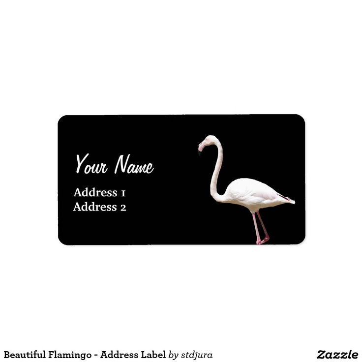 Beautiful Flamingo - Address Label