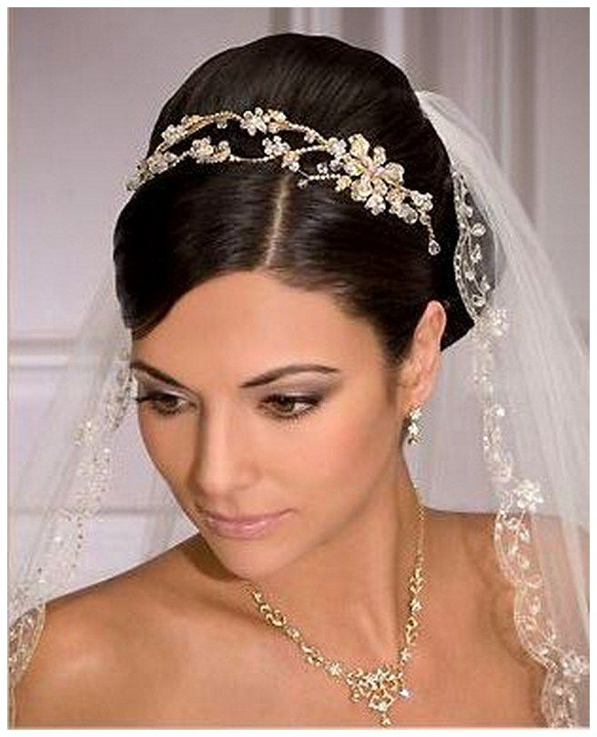 Wedding Hairstyles With Tiara: Short Wedding Hairstyles With Veil And Tiara