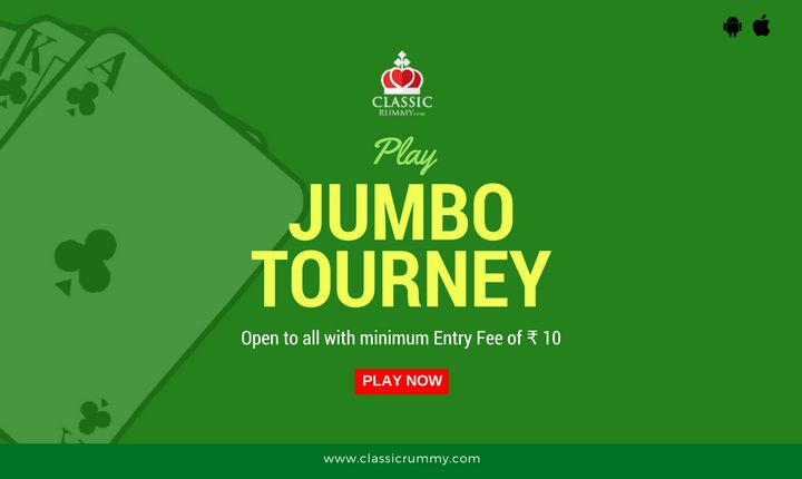 It's time to play classic rummy jumbo tourney. Open to all & tourney runs all the day.  #rummy #online #card #games #mobile